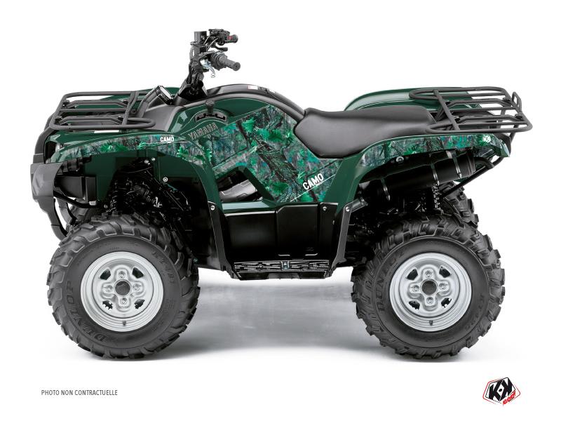 Yamaha 450 Grizzly ATV Camo Graphic Kit Green