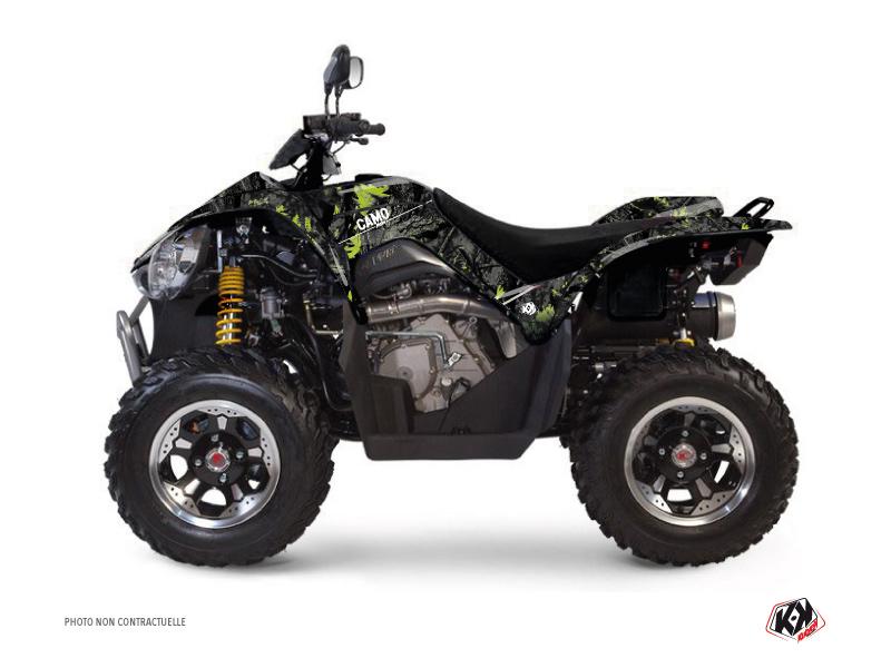 Kymco 450 MAXXER ATV Camo Graphic Kit Black Green