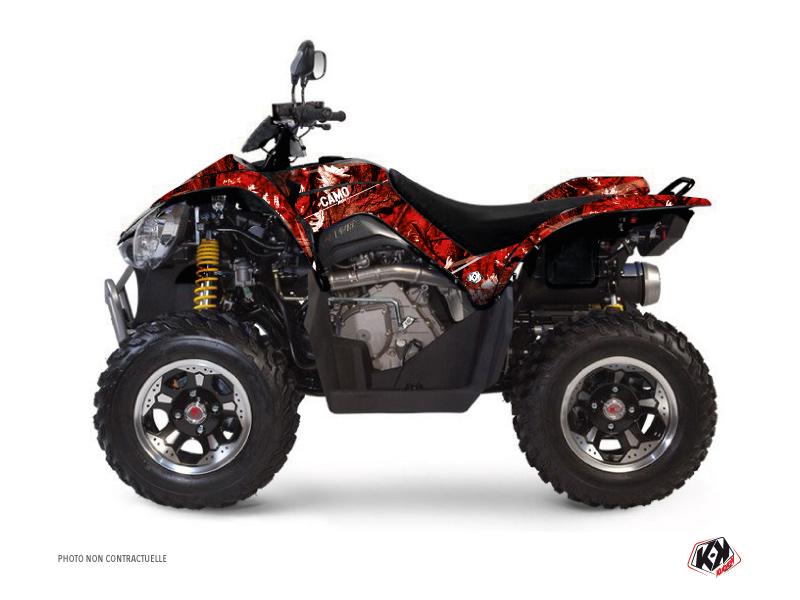 Kymco 450 MAXXER ATV Camo Graphic Kit Red