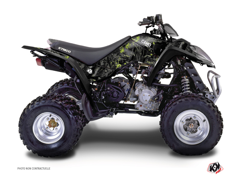 Kymco 90 MAXXER ATV Camo Graphic Kit Black Green