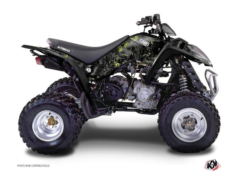 Kymco 50 MAXXER ATV Camo Graphic Kit Black Green