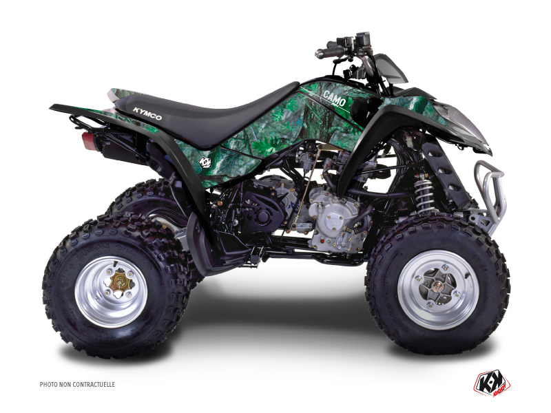 Kymco 50 MAXXER ATV Camo Graphic Kit Green