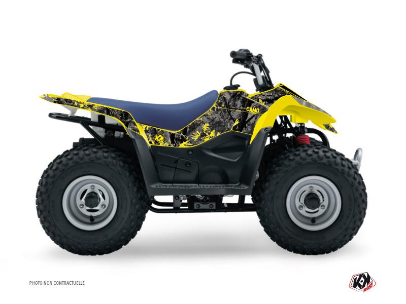 Suzuki 50 LT ATV Camo Graphic Kit Black Yellow