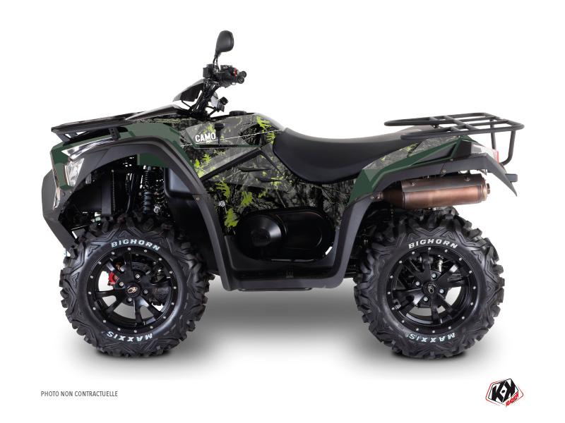 Kymco 700 MXU ATV Camo Graphic Kit Black Green