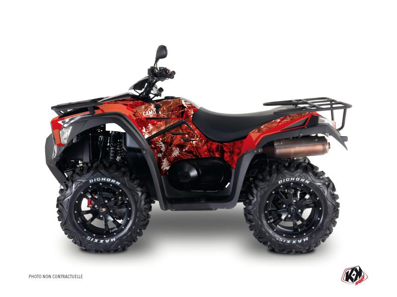 Kymco 550 MXU ATV Camo Graphic Kit Red