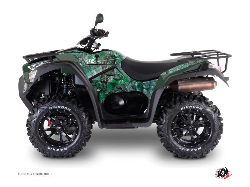 Kymco 550 MXU ATV Camo Graphic Kit Green