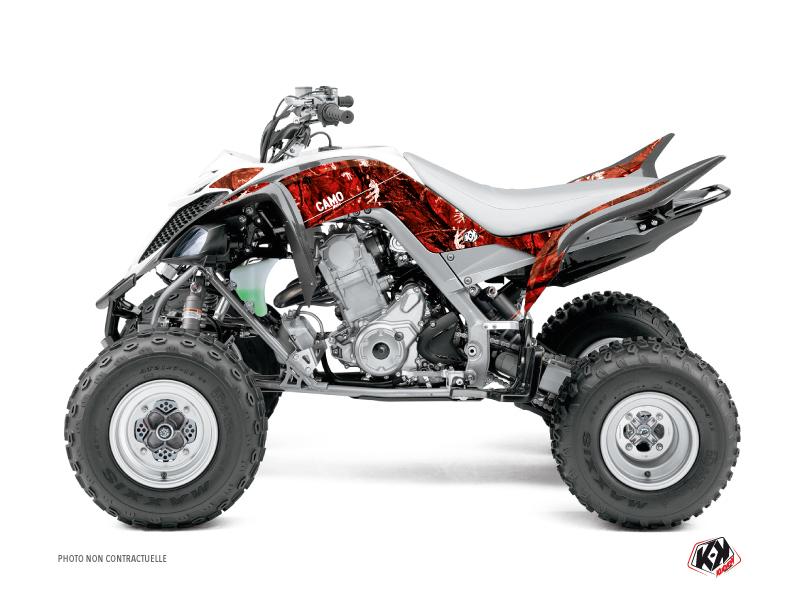 Yamaha 660 Raptor ATV Camo Graphic Kit Red