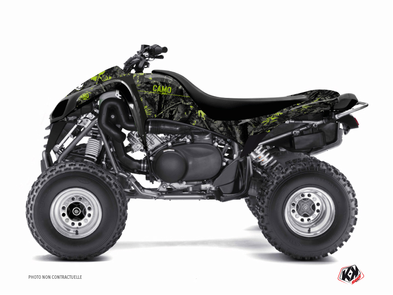 Kawasaki 700 KFX ATV Camo Graphic Kit Black Green