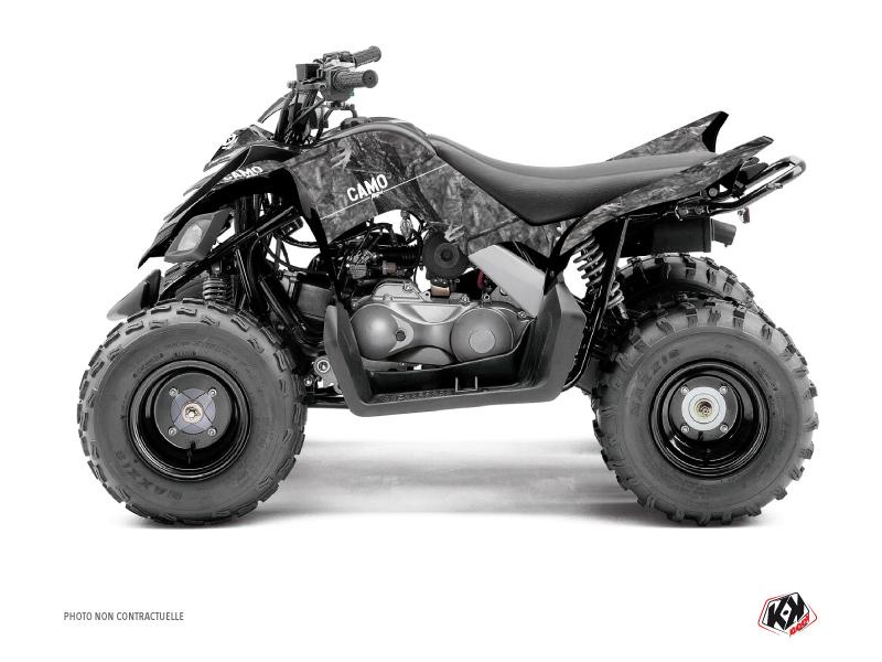 Yamaha 90 Raptor ATV Camo Graphic Kit Grey