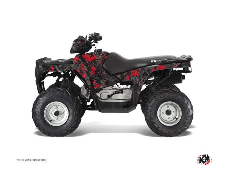 Polaris 90 Sportsman ATV Camo Graphic Kit Black Red