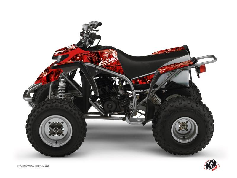 Yamaha Blaster ATV Camo Graphic Kit Red