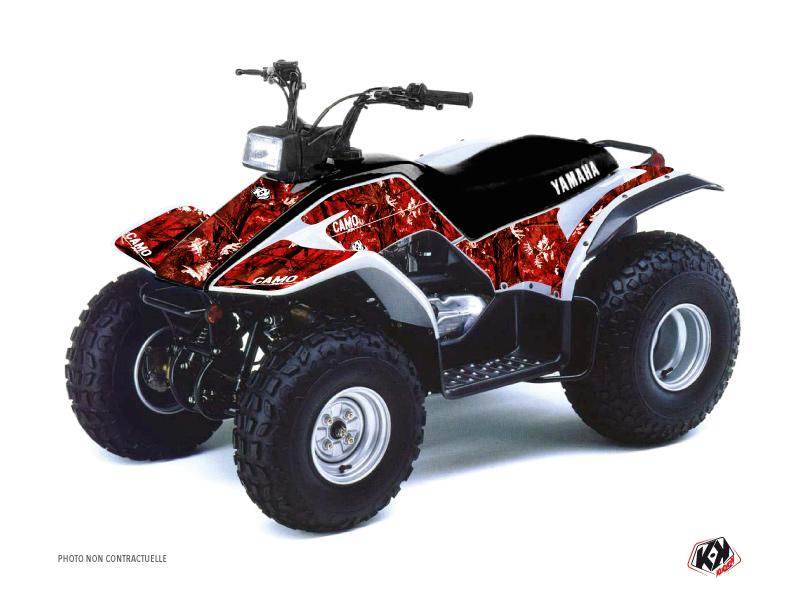 Yamaha Breeze ATV Camo Graphic Kit Red