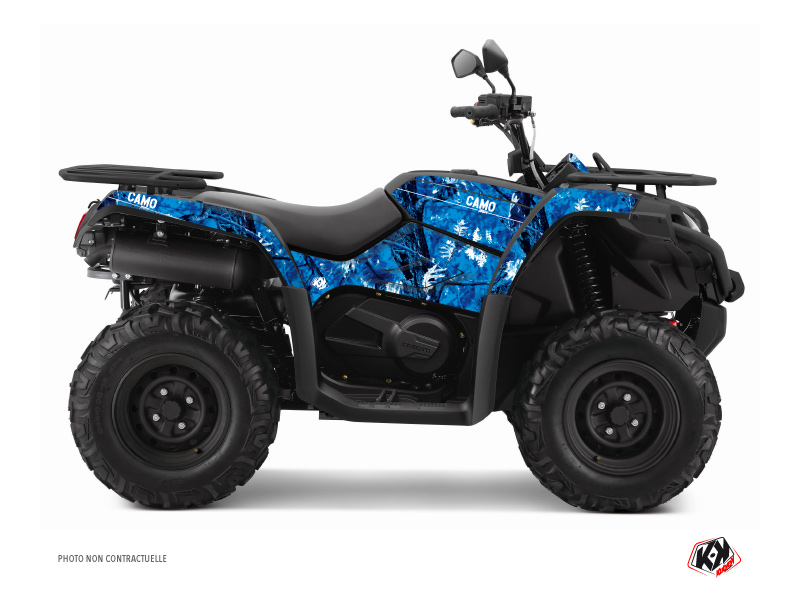 CF MOTO CFORCE 450 S ATV Camo Graphic Kit Blue