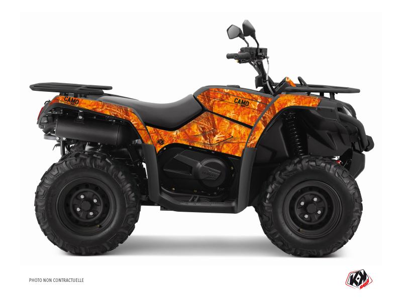 CF MOTO CFORCE 520 S ATV Camo Graphic Kit Orange