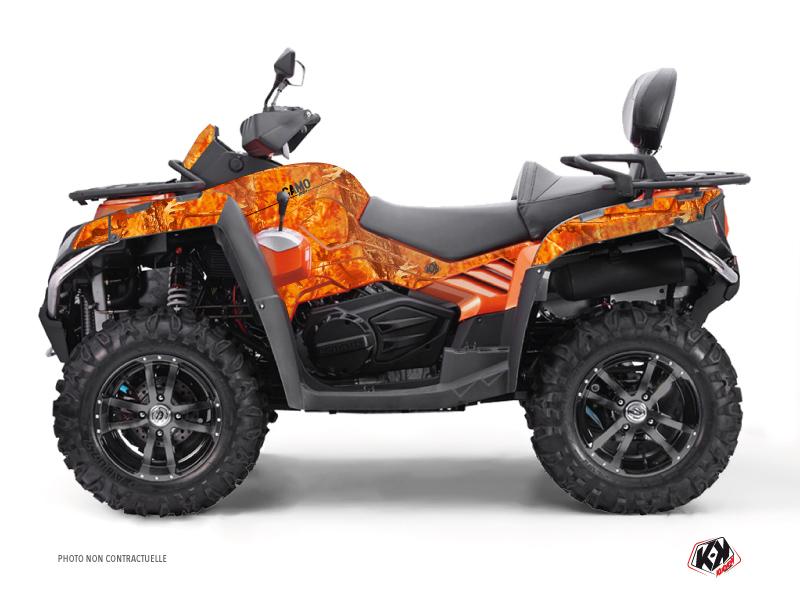 CF MOTO CFORCE 800 S ATV Camo Graphic Kit Orange