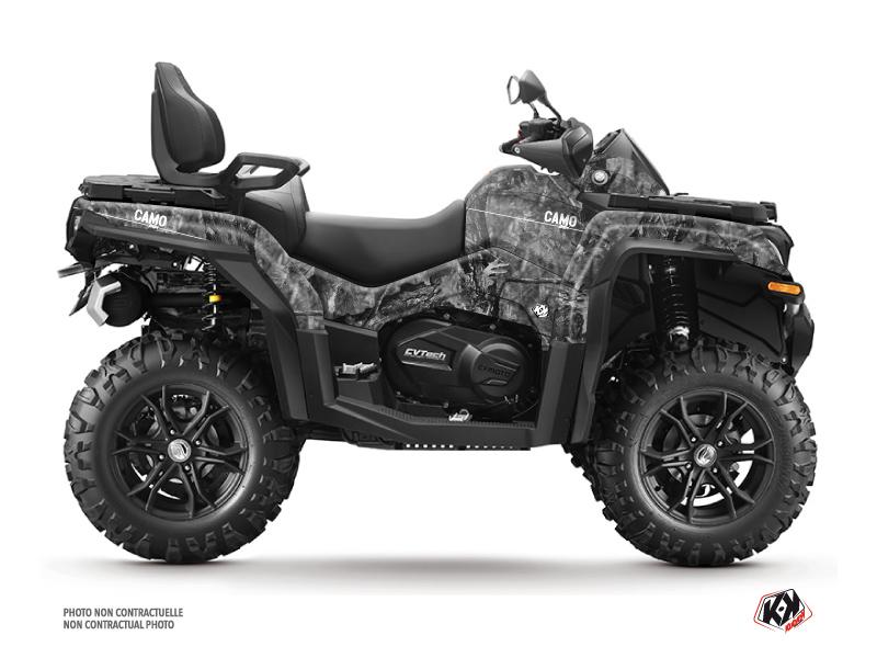 CF MOTO CFORCE 800 XC ATV Camo Graphic Kit Grey
