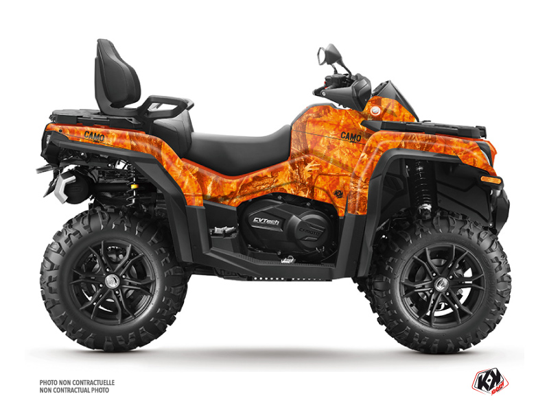 CF MOTO CFORCE 800 XC ATV Camo Graphic Kit Orange