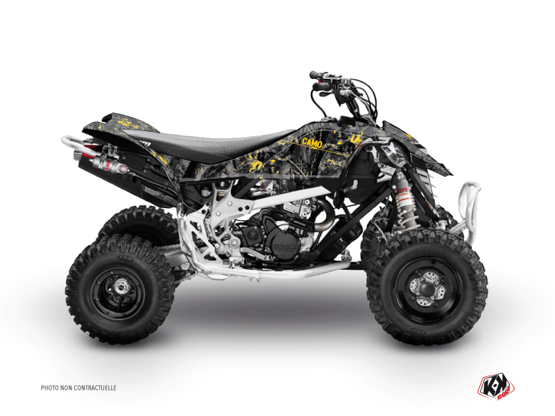 Can Am DS 90 ATV Camo Graphic Kit Black Yellow