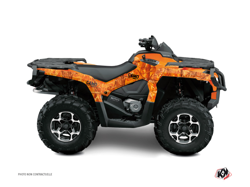 Can Am Outlander 1000 ATV Camo Graphic Kit Orange