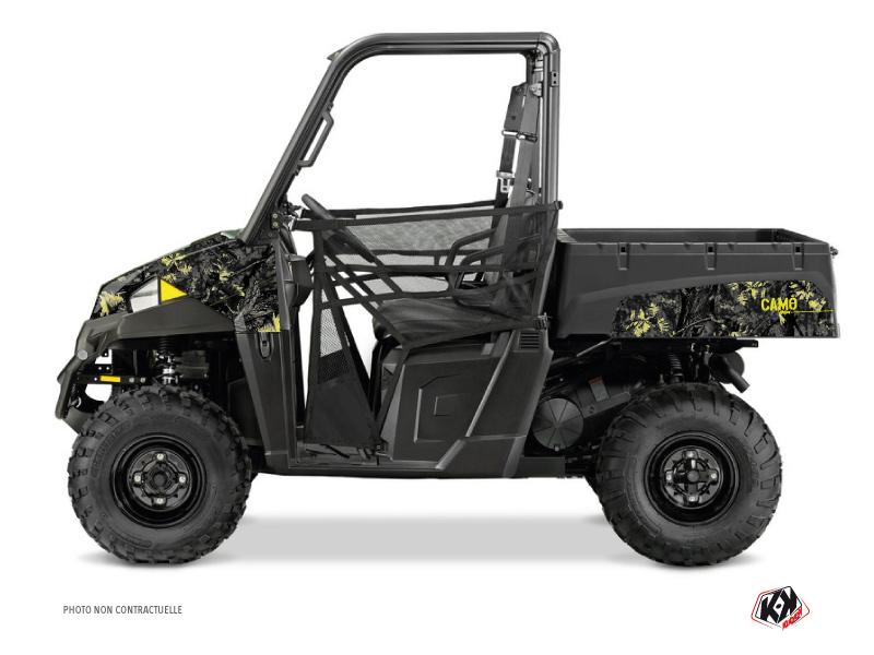Polaris Ranger 570 UTV Camo Graphic Kit Black Yellow