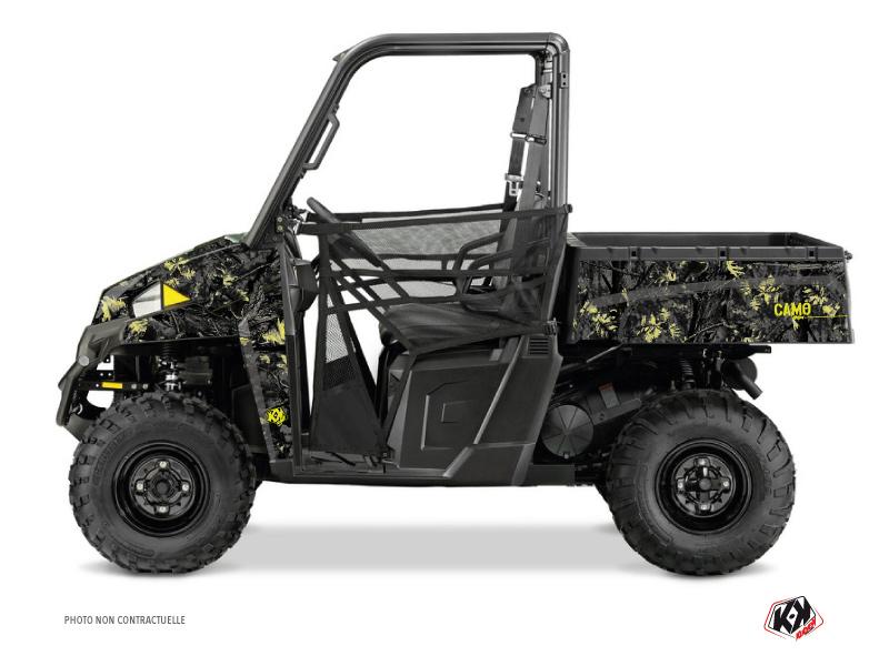 Polaris Ranger 900 XP UTV Camo Graphic Kit Black Yellow
