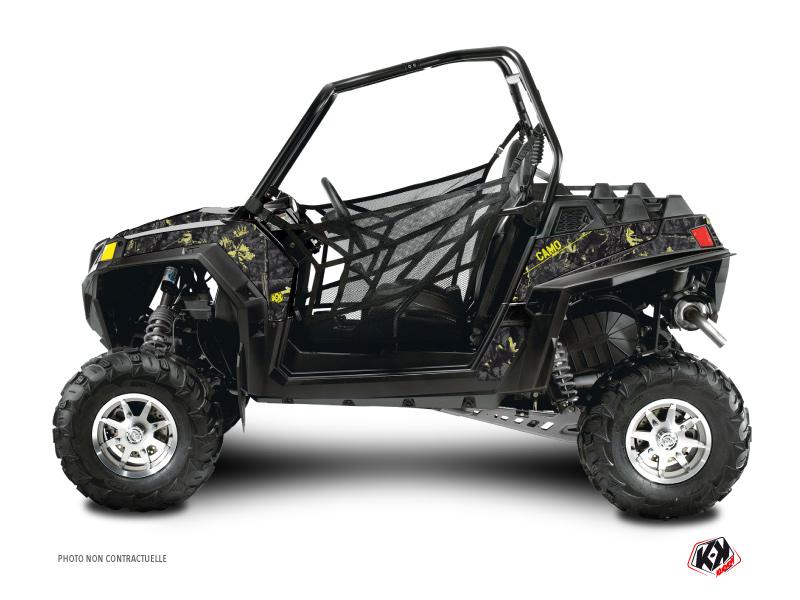 Polaris RZR 900 XP UTV Camo Graphic Kit Black Yellow