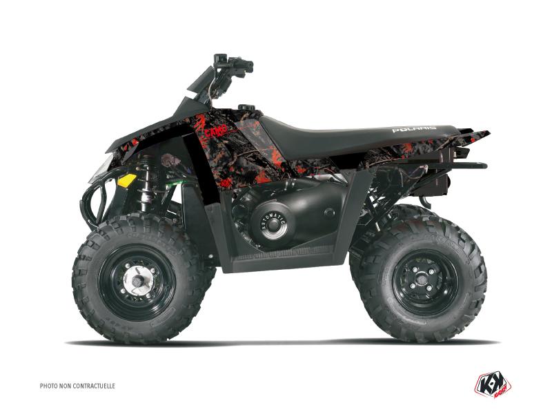 Polaris Scrambler 500 ATV Camo Graphic Kit Black Red
