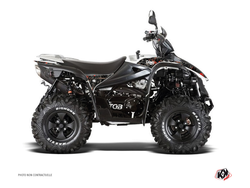 TGB Target ATV Camo Graphic Kit Black Red