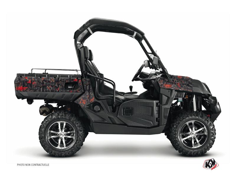 CF Moto U Force 800 UTV Camo Graphic Kit Black Red