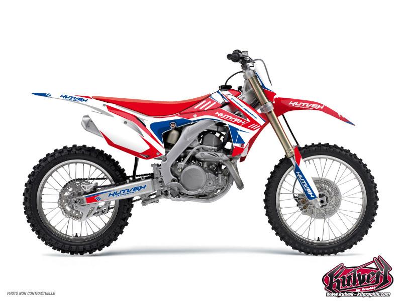Honda 85 CR Dirt Bike Chrono Graphic Kit Blue