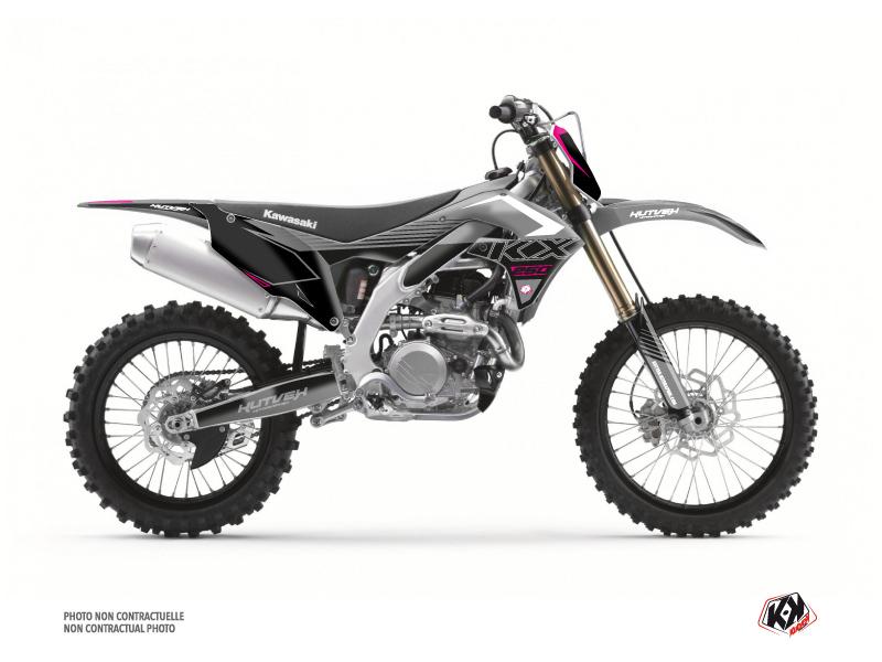 Kawasaki 250 KXF Dirt Bike Claw Graphic Kit Grey