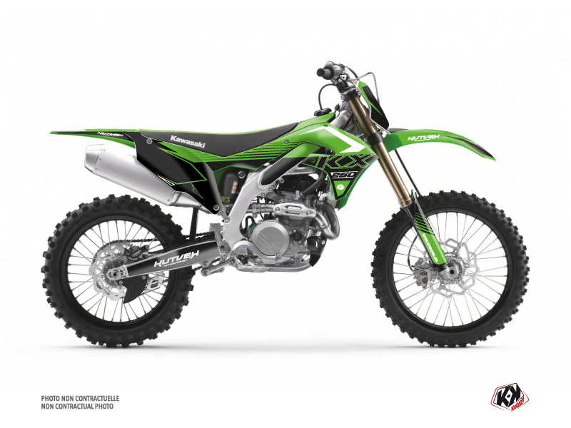 Kit Déco Moto Cross Claw Kawasaki 250 KXF Vert