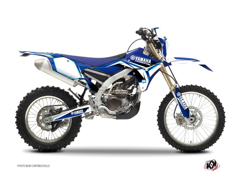Yamaha 250 WRF Dirt Bike Concept Graphic Kit Blue