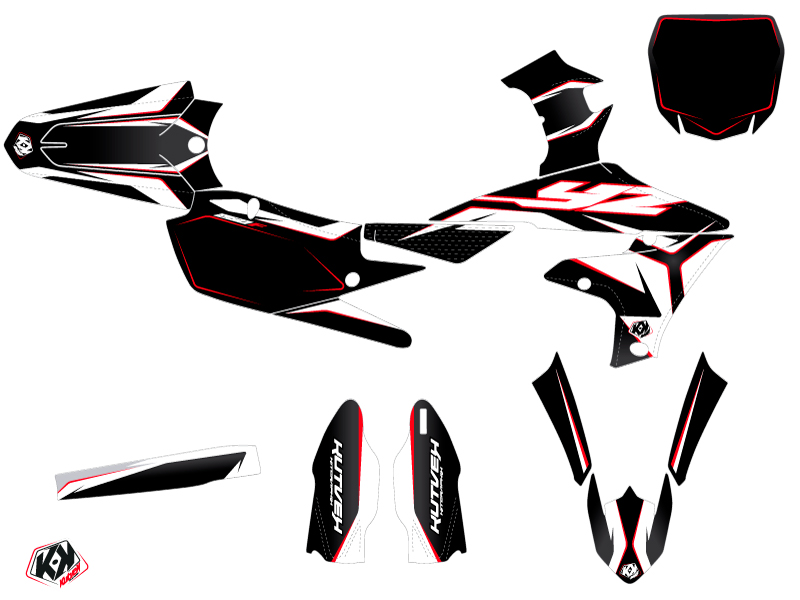 Yamaha 250 YZF Dirt Bike Concept Graphic Kit Red