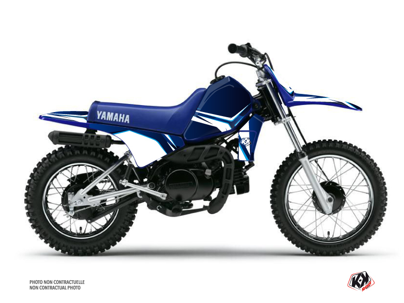 Kit Déco Moto Cross Concept Yamaha PW 80 Bleu