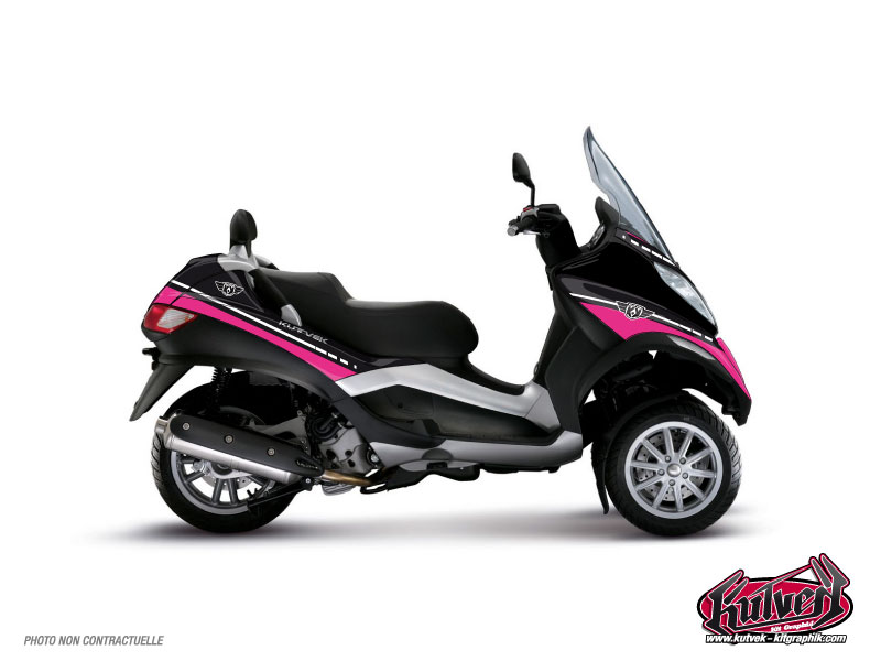 Piaggio MP3 Maxiscooter Cooper Graphic Kit Pink