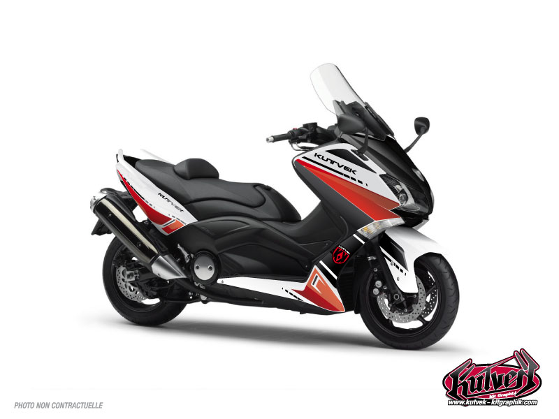 Yamaha TMAX 500 Maxiscooter Cooper Graphic Kit White Red