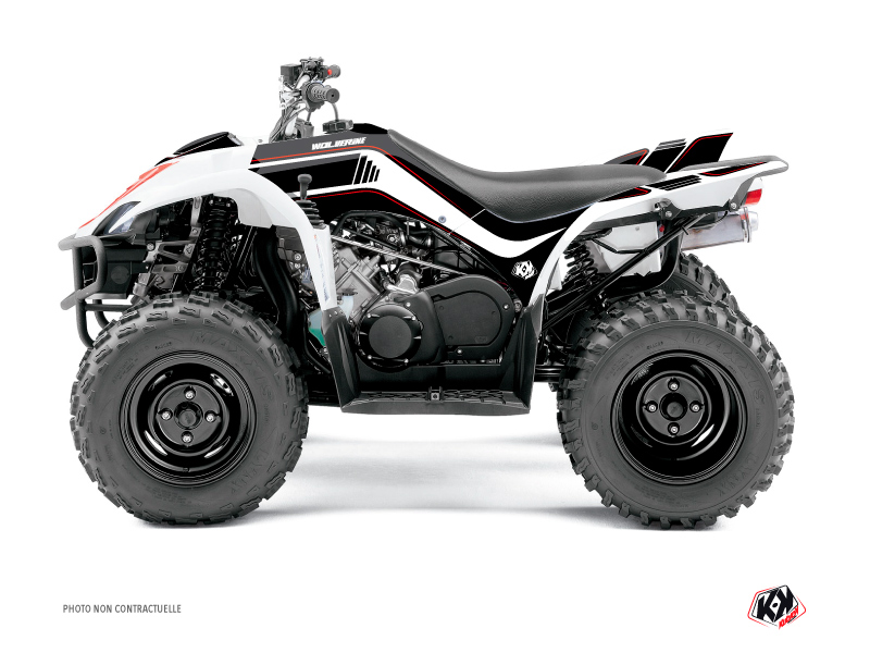 Yamaha 350-450 Wolverine ATV Corporate Graphic Kit Black