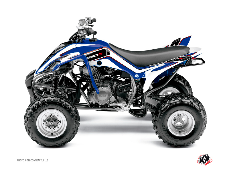 Yamaha 350 Raptor ATV Corporate Graphic Kit Blue
