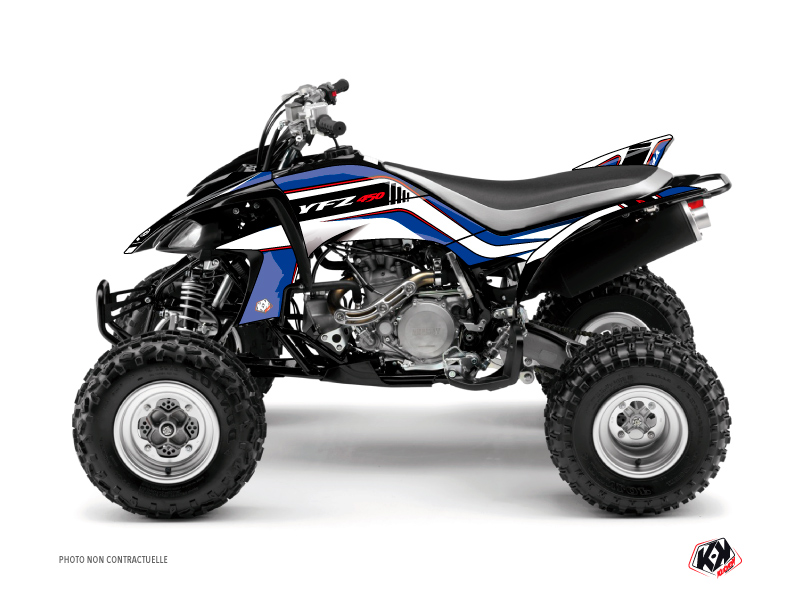 Yamaha 450 YFZ ATV Corporate Graphic Kit Blue
