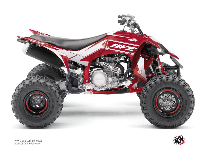 Yamaha 450 YFZ R ATV Corporate Graphic Kit Red Black
