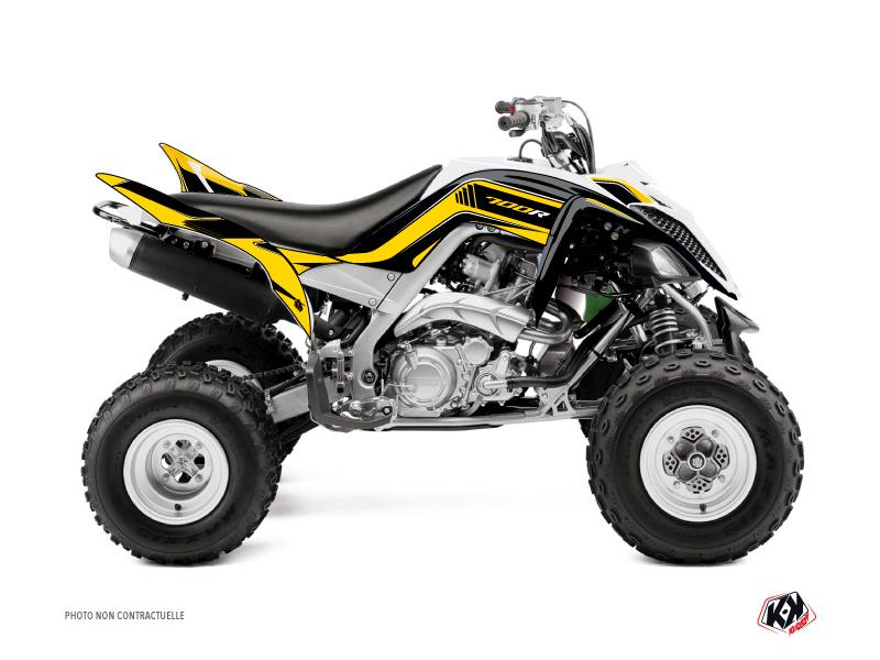 Yamaha 700 Raptor ATV Corporate Graphic Kit Yellow 60th Anniversary