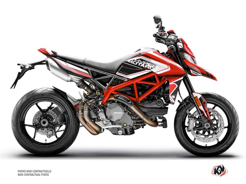 Kit Déco Moto Corsa Ducati Hypermotard Rouge