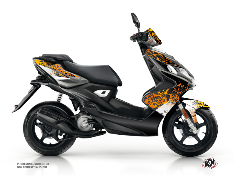 Kit Déco Scooter Cosmic Yamaha Aerox Orange