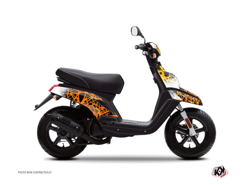 Yamaha BWS Scooter Cosmic Graphic Kit Orange