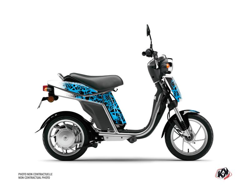 Yamaha Eco-3 Scooter Cosmic Graphic Kit Blue