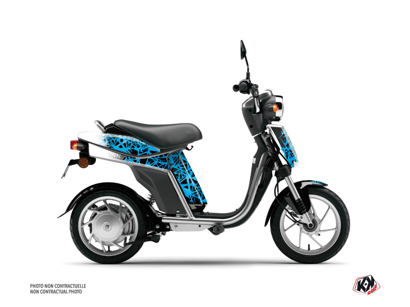 MBK Eco-3 Scooter Cosmic Graphic Kit Blue