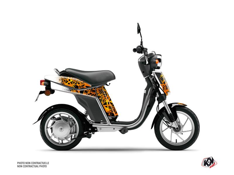 Yamaha Eco-3 Scooter Cosmic Graphic Kit Orange