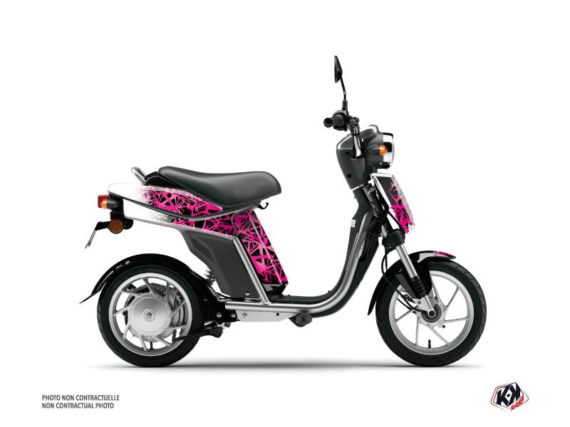 Yamaha Eco-3 Scooter Cosmic Graphic Kit Pink