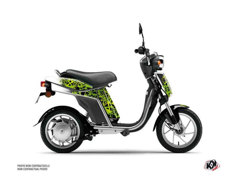 Yamaha Eco-3 Scooter Cosmic Graphic Kit Green